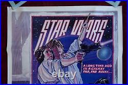 Star Wars Original Movie Poster 1977 Circus Style D 1sh Vintage