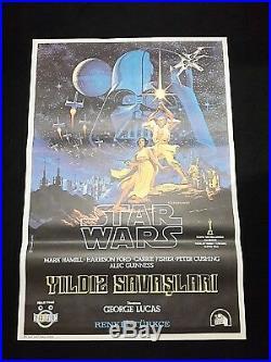 Star Wars Original Movie Poster New Hope 1977 Turkish Unused