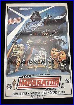 Star Wars Original Movie Poster The Empire Strikes Back Rare Turkish