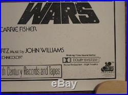 Star Wars Original Rolled Soundtrack 1sheet Movie Poster