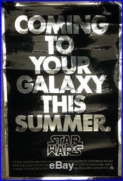 Star Wars / Original Teaser Poster Mylar World Con Giveaway Rare