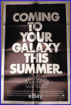 Star Wars / Original Teaser Poster Rare