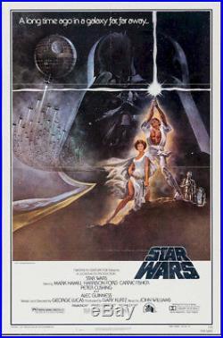 Star Wars Original Vintage Movie Poster One Sheet 3rd Printing