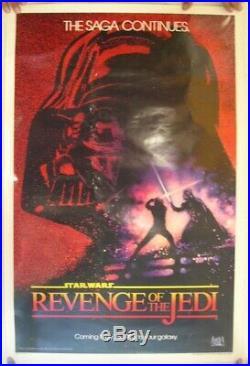 Star Wars Poster Revenge Of The Jedi Saga Continues Movie May 25 1983 Original