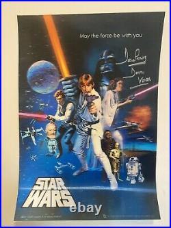 Star Wars Poster Signed Darth Vader Dave David Prowse lenticular 3-D PROFF 1977