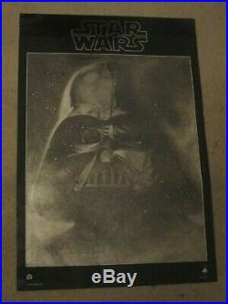 Star Wars RARE Original 1977 Mylar Soundtrack Record Poster Lucas