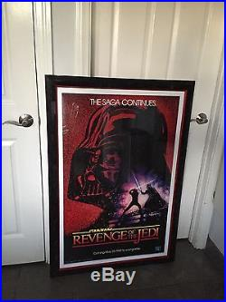 Star Wars REVENGE OF THE JEDI Authenticated Rolled Original Movie Poster