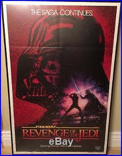Star Wars REVENGE OF THE JEDI Original 27x41 Movie Poster EXCELLENT COND C9-9.5