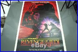 Star Wars REVENGE OF THE JEDI Original MOVIE POSTER TEASER ONE SHEET 27X41
