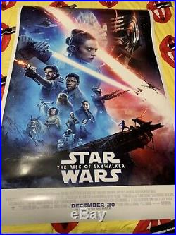 Star Wars RISE OF SKYWALKER Original 27x40 D/S Theatrical Movie Poster One Sheet