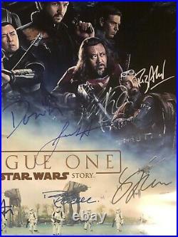 Star Wars ROUGE ONE Signed Movie Poster Autograph 27X40 16 Cast Jones Luna