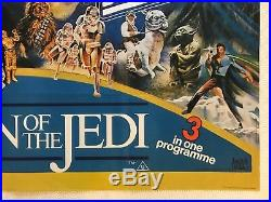 Star Wars Return Of The Jedi Empire Strikes Back Original Triple Quad Poster'83