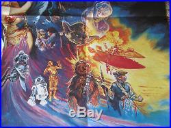 Star Wars Return Of The Jedi Original British Quad UK Movie Poster 1983