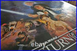 Star Wars Return Of The Jedi Original movie poster Rare 2 sided Printer's Proof