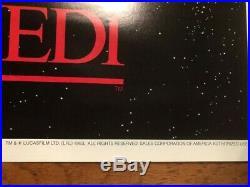Star Wars, Return of the Jedi 1983 original film poster Space Battle. Unfolded