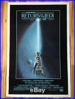 Star Wars Return of the Jedi 27 x 41 Original Movie Poster Style A 1983