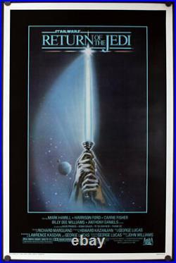 Star Wars Return of the Jedi Original 1983 Rolled One Sheet Poster 27x41 SHARP
