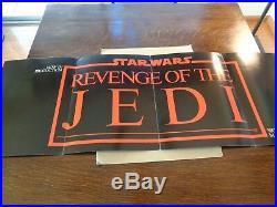 Star Wars Revenge Of The Jedi Original Movie Poster Promo 1982 4-pages Nm-
