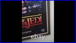 Star Wars Revenge Of The Jedi Poster Teaser One Sheet Dated 1983 Authentic