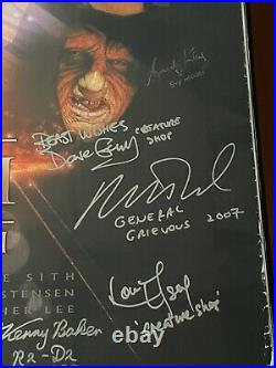 Star Wars Revenge of the Sith cast signed 27x40 Original DS poster BAS LOA