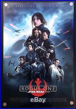 Star Wars Rogue One Original Movie Poster International Version 2016 DS C9 NM
