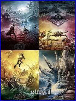 Star Wars SET 2015-2019 ALL (12) IMAX Movie Posters AMC Dan Mumford SHIPS FLAT