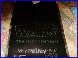 Star Wars Silver Mylar 10th Anniversary Signed By 2 Boba Fett And Uncle Owen