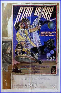 Star Wars Style D NSS 1977 Released Rare Vintage Original Movie Poster