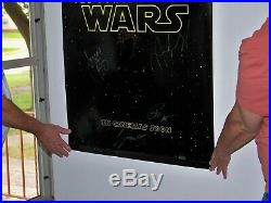 Star Wars THE FORCE AWAKENS signed Premiere Poster, DS, #2/50, COA