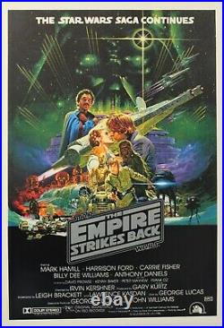 Star Wars The Empire Strikes Back 1980 Australian One Sheet Movie Poster Rolled