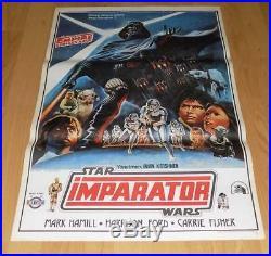 Star Wars The Empire Strikes Back 1 Sheet Original Unique Turkish Movie Poster