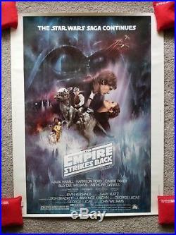 Star Wars The Empire Strikes Back 30 x 40 original movie poster