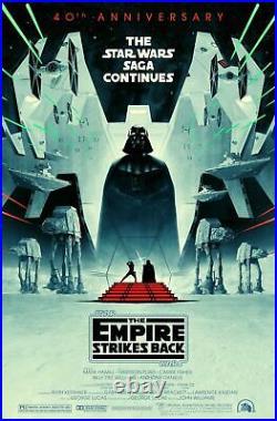 Star Wars The Empire Strikes Back 40th Anniversary Poster Original 27x40 D/S