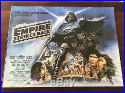 Star Wars The Empire Strikes Back Original British Quad Poster