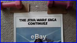 Star Wars The Empire Strikes Back Original Style B 14 X 36 Insert Poster