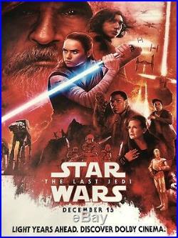 Star Wars The Last Jedi Original Dolby Cinema Movie Poster Paul Shipper