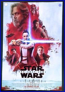 Star Wars The Last Jedi Original Movie Poster International Red Version DS
