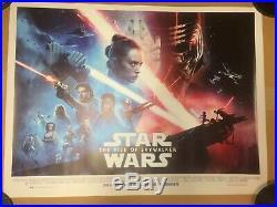Star Wars The Rise Of Skywalker Final Design Original Quad Cinema Poster