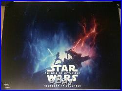 Star Wars The Rise Of Skywalker Original Quad Cinema Poster