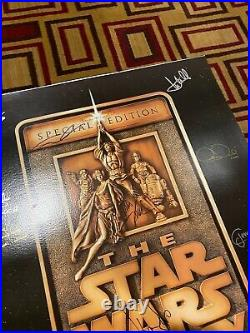 Star Wars Trilogy Cast Signed Poster 27x40 Lucas Fisher Ford Hamill Jones BAS
