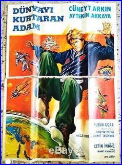 Star Wars Turkish Ver Dunyayi Kurtaran Adam Original Movie Poster 2 Sheet Rare