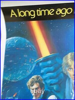 Star Wars original 1977 Australian One Sheet movie poster RARE UNFOLDED