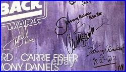 Star Wars signed movie poster esb cast harrison ford carrie fisher mark hamill
