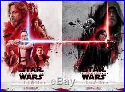 Star Wars the Last Jedi original DS movie poster 27x40 D/S INTL Set of 2