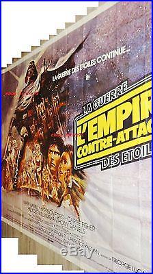 Star wars THE EMPIRE STRIKES BACK movie poster french 1980 BILLBOARD ORIGINAL