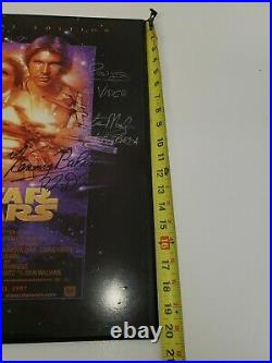 Star wars cast signed picture RARE 20.5x 16