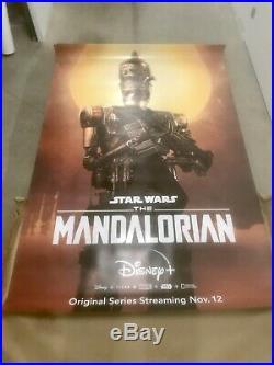 Super Rare Set of 6 Mandalorian Star Wars Bus Shelter Posters Disney+ Baby Yoda