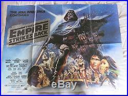 THE EMPIRE STRIKES BACK 1980 Original UK Quad Film Poster STAR WARS