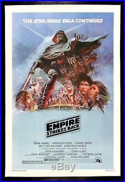 THE EMPIRE STRIKES BACK CineMasterpieces 1980 ORIGINAL STAR WARS MOVIE POSTER