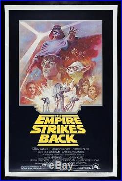 THE EMPIRE STRIKES BACK CineMasterpieces 1981R ORIGINAL STAR WARS MOVIE POSTER